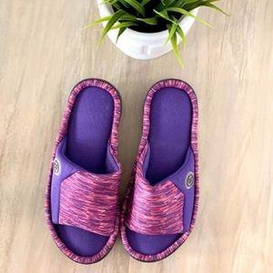 6.5-7 Pink & Purple Blended Isotoner Slip ons